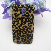 1PCS Bling Fashion Leopard Leather Hard Case Cover for Samsung Galaxy S4 i9500,Free Shipping+Retail