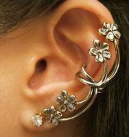 Fashion Antique Earrings Crystal Jewelry Flower Combination Ear Clip cuff Earrings SE385