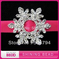 FREE SHIPPING+ 35mm+Hot sale snowflake rhinestone buckles for wedding invitation