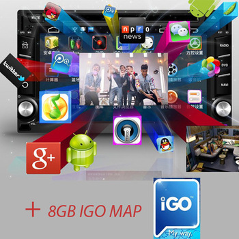 "New Android 6.2"" 2 Din Indash 3G Wifi Car GPS Navigation DVD BT Radio Player diq Free shipping"