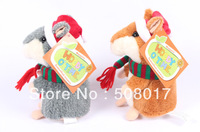 Fashion Christmas Talking hamsters woody o'time talking toys Free Shipping