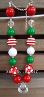 2013 christmas fashion baby necklace chunky beaded necklace Child Chunky bubblegum Necklace jewelry for your little one