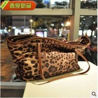 Fashion new arrival 2013 vintage leopard print women bag   casual handbag shoulder bag PU leather