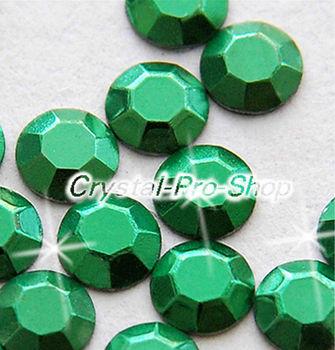 1440 pieces Green 3mm 10ss ss10 Faceted Hotfix Rhinestuds Iron On Round Beads new Aluminum Metal Design Art (u3m-Green-10 gr)