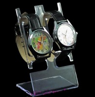 trade show booth Lovers watch frame jewelry holder pair of watches display rack plastic watch frame watch rack  pop up display