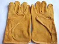 Welding gloves short welding leather welders gloves labor supplies C91710