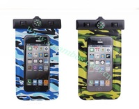 Camo Dive Waterproof Case Mobile Phone Pouch for 4.5 inch Smart Phone Clip Closure,100pcs/lot DHL Free Ship