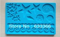Factory Wholesale 10 pcs Fondant cake tool star shape baking mold silicone embossing cake decorating