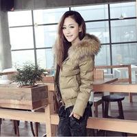 New 2013 Ladies detachable collar short down jacket ,high quality best selling women coat ,winter caot for women,women fur