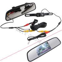 """Car Rear View Kit 4.3"""" Screen TFT LCD Car Rear View Rearview DVD Mirror Monitor + Backup Camera"""