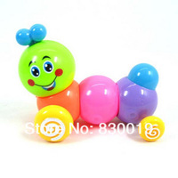 5Pcs/Lot Baby Kids Cute Twist Forward Movement Clockwork Spring Toy Caterpillar,Free Shipping