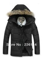 Free shipping Mens winter 2013 duck Down Parkas men Designer Brand pu hoodies jacket coat military warm fur coats men's outdoor