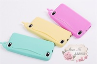 cut whale!3d silicone animal feed me case for iphone4 with paper box packing free shipping!