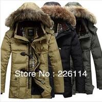 Free shipping Mens winter duck Down Parkas new men Designer Brand hoodies jacket coat military warm fur coats for men's outdoor