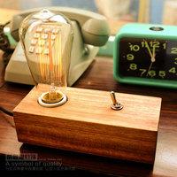Loft Vintage Nostalgic Lustre Wood Edison Table Lamps Industrial Personality Bar Children Bedside Reading Home Decor Lighting