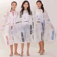 free shipping Hairdressing Hair Cutting Salon Hairstylist Nylon Gown Cape Cloth black red blue