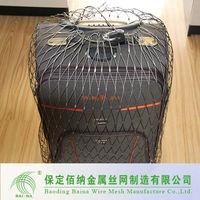 Flexible camping bags rope mesh