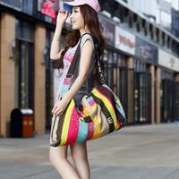 Free shipping stylish canvas dual function bag travel shoulder bag messenger bag handbag  gym outdoor sport bags  items GB10