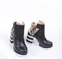 Free shipping women,original famous brand ankle genuine leather martin high heel boots X060
