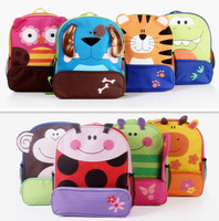 2013 Cartoon Zoo Animal School Bags Mini Oxford Backpack Gift for Children Kids Free Shipping CSB-006