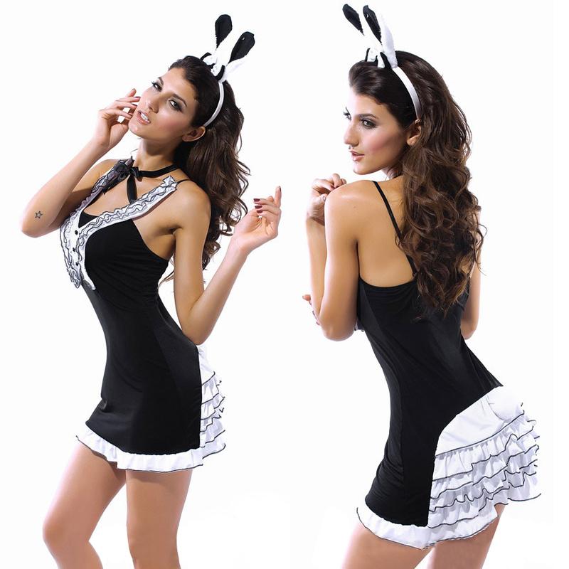 Halloween Costume Black Tie Black Sexy Tie Bunny Halloween