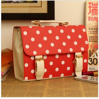 The new hit color retro Mobile Messenger Polka Dot designer cross body bag chain bag brand cheap brand name(China (Mainland))