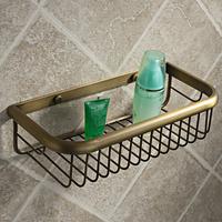 Vintage bathroom shelf copper soap basket shelf bronze color basket