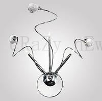 35L*35W*36H cm (13.78L*13.78W*14.17H inch)) Spiral Wall Light with 3 Lights - K9 Crystal Ball G4