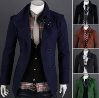 New 2013 polo Men's Trench Classic double-breasted men's windbreaker trench coat winter jacket