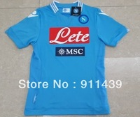 2013-2014 New Arrival Napoli  home blue  soccer jersey jersey soccer  football uniform football jersey  T-shirts