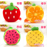 2013 Fruit Cotton School Bags Kindergarten Backpack For Children Kids Baby Free Shipping CSB-011