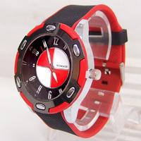 Hot sale new Fashion High quality Brand watch men sports watches Silicone strap analog quartz vogue wristwatch 8W0028