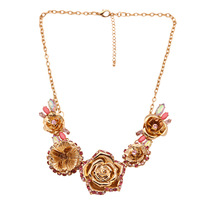 [Mix 15USD] _ 047 fashion accessories flower fashion necklace y001
