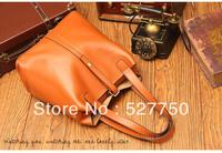 new 2013 fashion women's leather handbags messenger bags unique famous brand bag vintage high quality genuine leather  cowhide