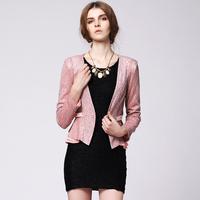 Women's 2013 autumn blazer high quality lace long-sleeve slim ol elegant short jacket female