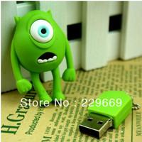 Free Shipping, Hot 8gb Cartoon one eye monster model USB 2.0 momery stick flash pen driver, usb flash drive 1-32GB