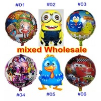 10 PCS balloons Kids birthday party decorations Inflatable toys Galinha pintadinha Cars MONSTER HIGH school Patata Clown