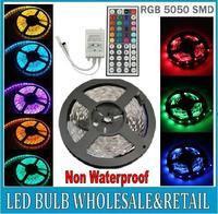 Christmas LED Strip 5050 RGB Flexible tape 300LED 5M non waterproof 12V Car Home +44 Key Controller 1set/lot  Free shipping