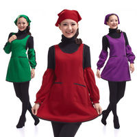 Aprons work wear Women waiter aprons bandanas oversleeps set 79177w chromophous  Free shipping