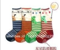 Hot Selling!!! Frog Ladybug dispensing in tube socks / baby slip sock 4pairs