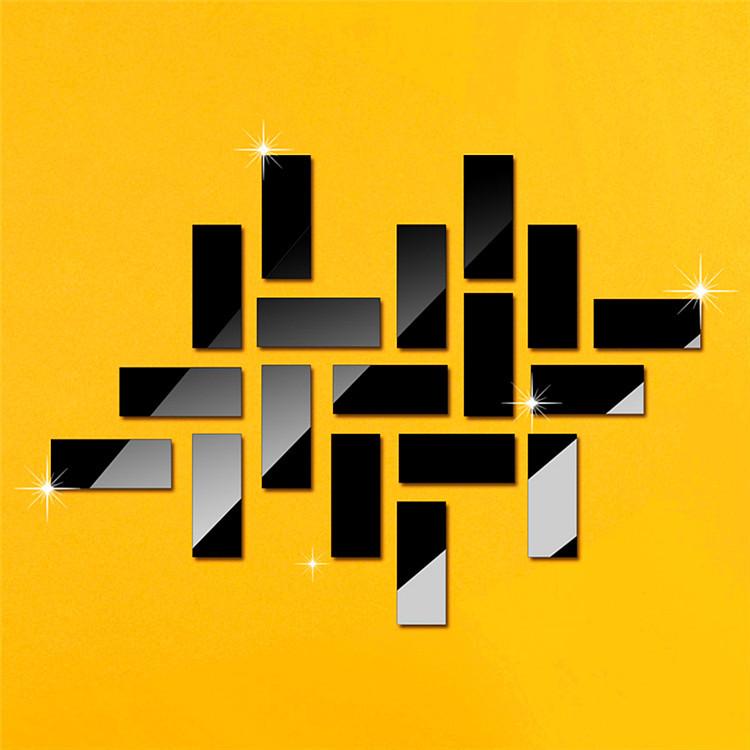 160*160mm Square Mirror Decorative Wall Sticker Bedroom Decor 3d ...
