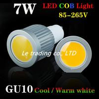 Free shipping Energy saving 7W COB LED Ceiling light/down light GU10 Cool/Warm White/White 550-650LM