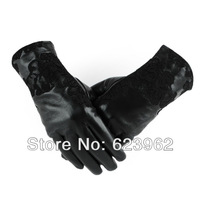 New female models lace leather gloves Christmas gifts
