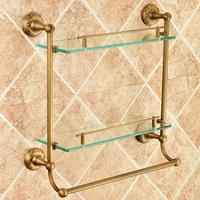 antique copper dresser staring bathroom rack towel bar glass carved shelf