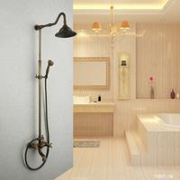 classic fashion copper antique lifting shower set vintage shower faucet