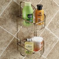 Bathroom hardware accessories double layer triangle basket solid copper soap shelf