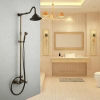 Bathroom antique shower set tub and shower fashion copper shower head set
