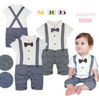 Male child style romper short-sleeve suspenders romper bodysuit p33 3