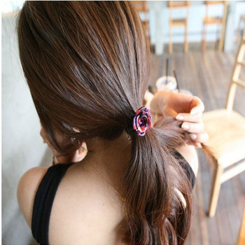 Free Shipping Rose flower Cellulose acetate Hair tie