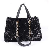Sequins Women New Fashion Chain pu Handbag Europe and America OL Shoulder bag Messenger bag 2013 brand designer handbag   YHZ204